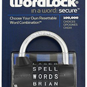Wordlock-PL-004-BK-5-Dial-Combination-Padlock-Black-0